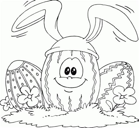 Easter Egg Wearing Bunny Ears Coloring Page Coloring Com Bunny Ears Coloring Page