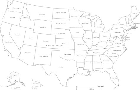 printable map of the united states black and white black and white map of the united states clipart best