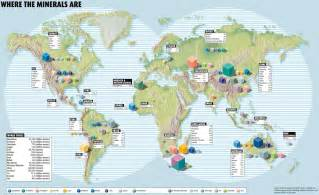 mapa la distribuci 243 n mundial de minerales world mineral