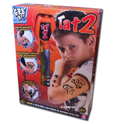 tattoo pen toy new gr8 boys tat2 kit toy tattoo pen ebay