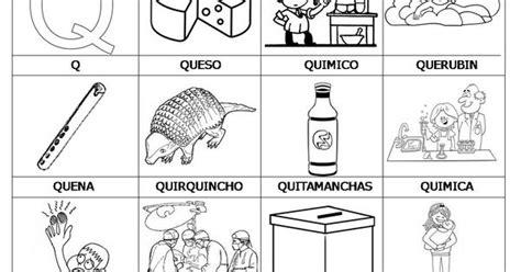 imagenes de palabras que empiecen con ñ palabras con q preescolar pinterest