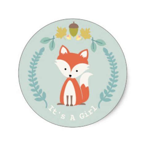 Fox Baby Shower by Baby Fox Stickers Zazzle