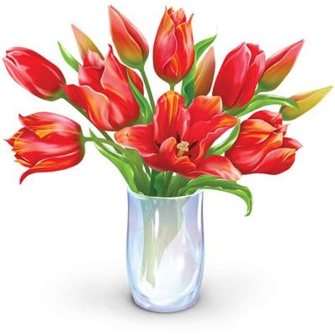 Clipart Flower Vase by Vase Of Flowers Clip Flower Bouquet Clipart Dozen