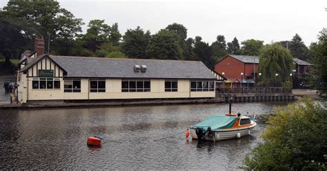 boat house chester boathouse inn in chester will moor barge on river dee chester chronicle