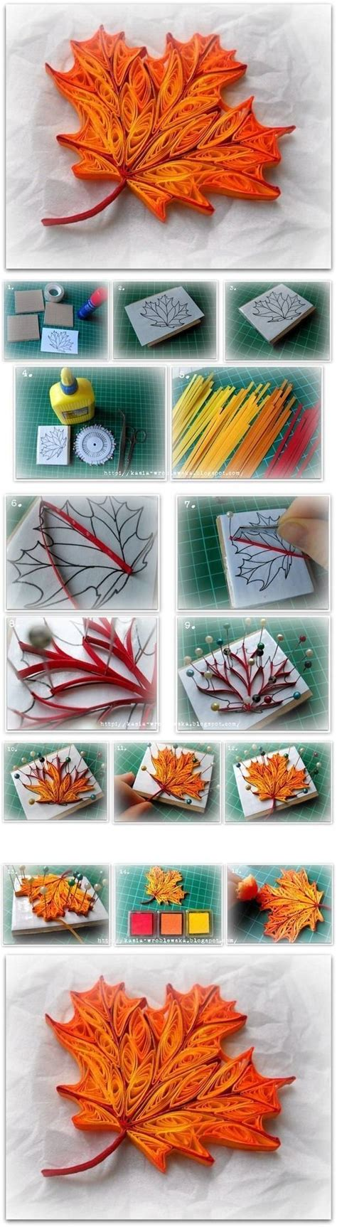 paper quilling tutorial step by step instructions how to make quilled maple leaf step by step diy tutorial