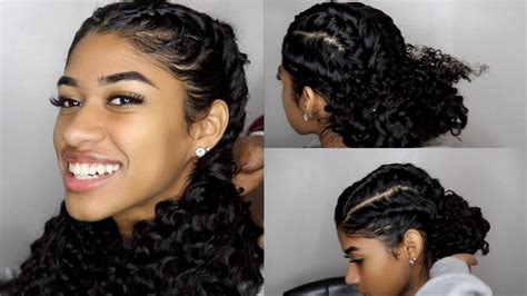 easy braided hairstyles  curly hair youtube