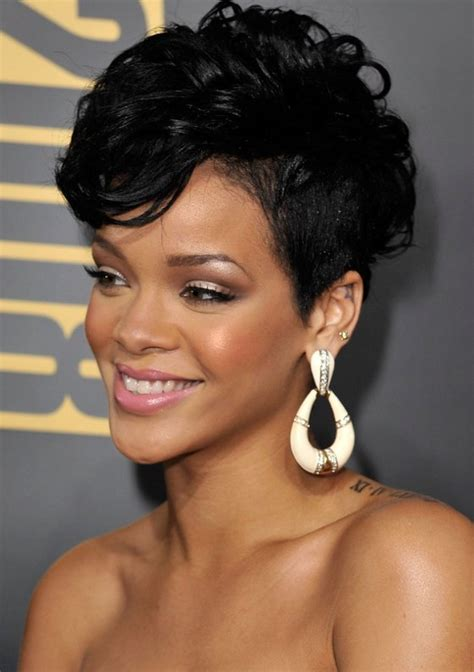 black hair styles for 2015 with one side shaved most iconic rihanna hairstyles