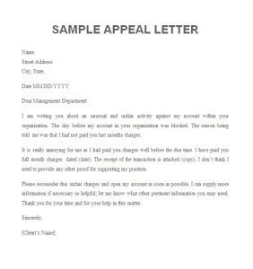 Business Appeal Letter Sle The Letter Sle Decision Journal Template