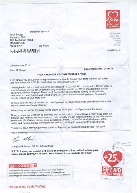 Fundraising Letter Closing template for donation letter 12 church donation receipt