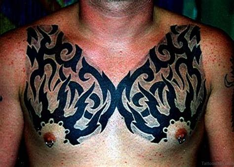 tribal tattoos under breast 59 great tribal tattoos on chest