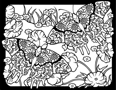stained glass coloring books for adults fanciful butterflies stained glass coloring book