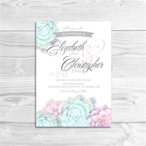 printable wedding invitations watercolor watercolor succulent wedding invitation diy printable