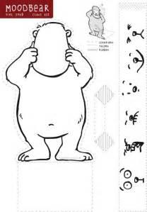 free printable mood bear craft teaching emotions and