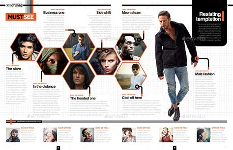 magazine layout cost per page magazine template indesign 40 page layout v6 by