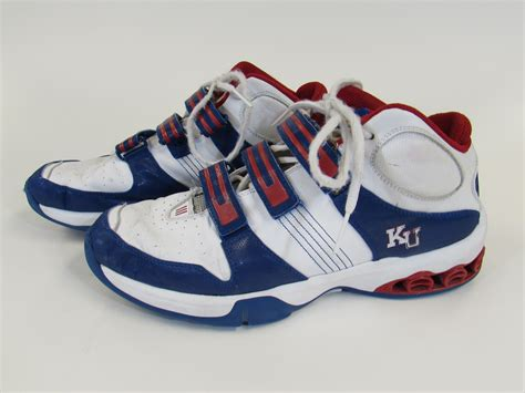 kansas jayhawks basketball shoes lot detail kansas jayhawks used basketball shoes