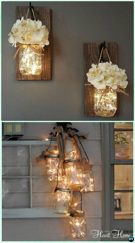 diy decorations lights diy jar lighting craft ideas