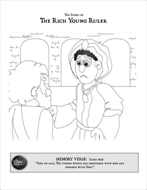 jesus and the rich young ruler coloring sheet google