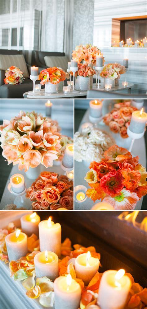 coral and orange wedding coral and orange chevron wedding decor ideas junebug