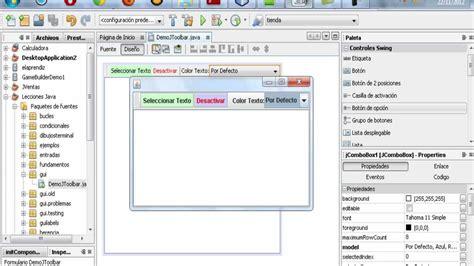 tutorial java usb tutorial de programacion java 46 jtoolbar barra de
