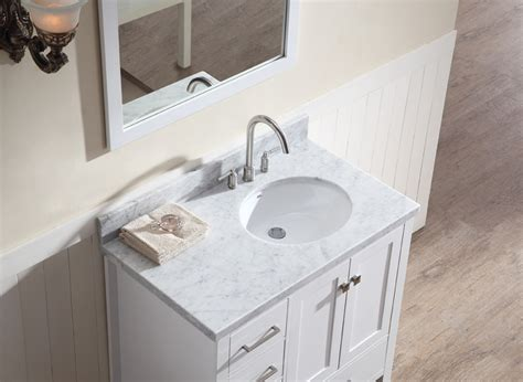 Bathroom Vanity With Offset Sink Ariel Cambridge 37 Quot Single Sink Vanity Set W Right Offset Sink In White Ariel Bath