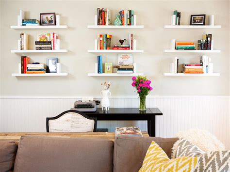 bookshelf living room 12 ways to decorate with floating shelves hgtv s