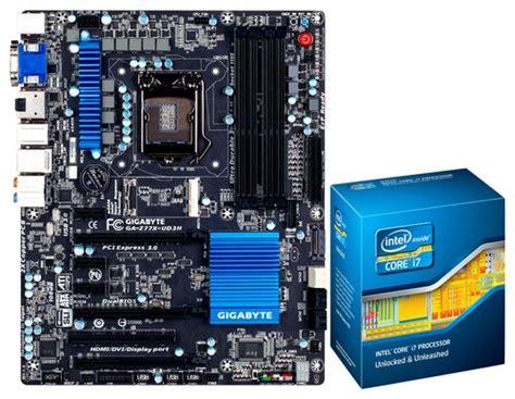 I7 3770k Sockel by Intel I7 3770k Processor And Gigabyte Atx Motherboard 2666mhz Socket 1155 I73770k Z77x3