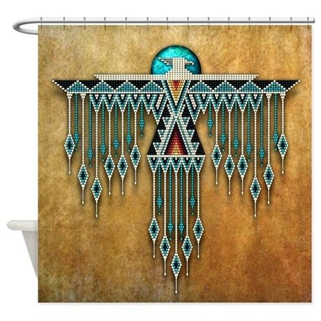 native american home decor catalogs southwest native style thunderbird shower curtain by