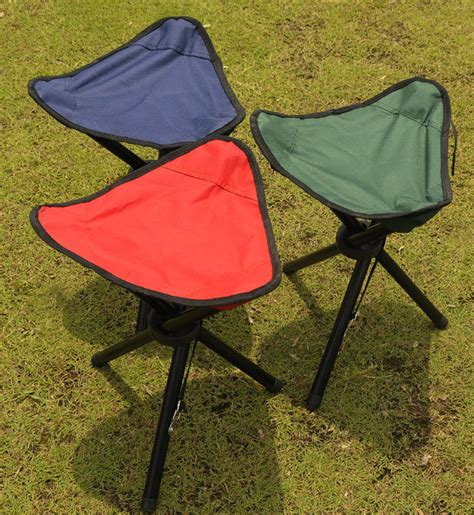 kursi lipat memancing folding three legged stool chair jakartanotebook