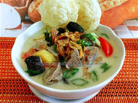 membuat soto ayam kuah santan resep soto daging santan khas betawi
