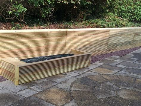 Rounded Railway Sleepers by Profiled Railway Sleeper Retaining Wall