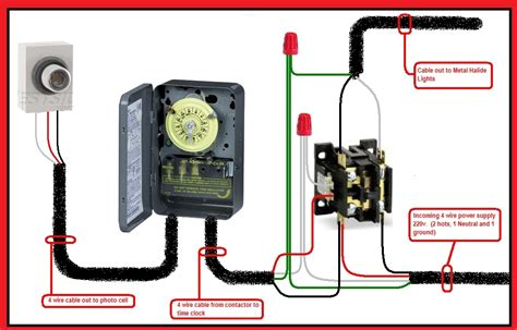 photocell lighting contactor wiring diagram elec eng world