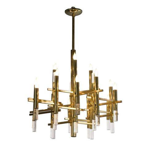 Brass Chandelier Modern Mystical Aligned Brass And Lucite Rod Chandelier Brass Chandelier Chandeliers And Pendant