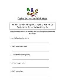 worksheets for capital letters and punctuations capital