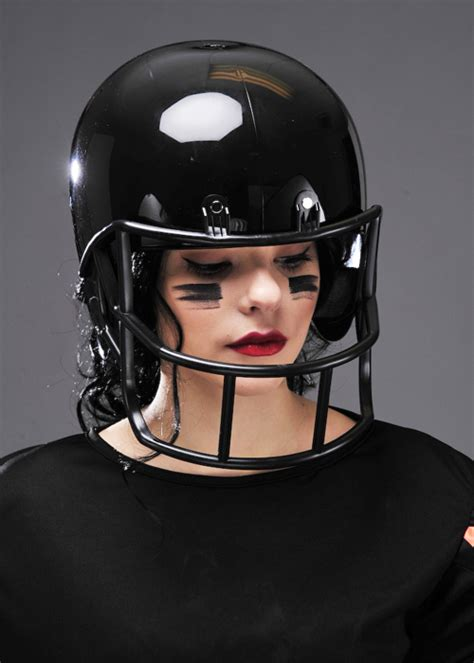 adult fancy dress black american football helmet