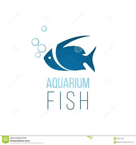 aquarium logo design aquarium fish logo template stock vector image 48617296