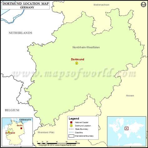 dortmund map of germany where is dortmund location of dortmund in germany map