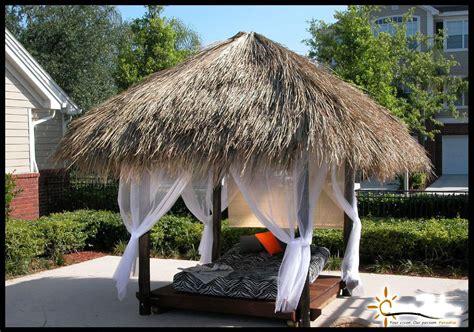 Tiki Hut Grass Roof Custom Made Palm Trees Residential Tiki Huts
