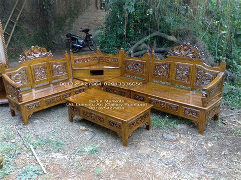 Kursi Tamu Sudut Ukir kursi tamu sudut ukir jati mahkota ud lumintu gallery furniture