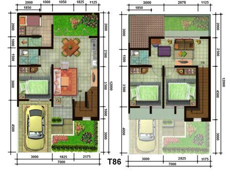 gambar denah rumah minimalis 1 lantai terbaru 2017 lensarumah