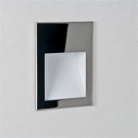 Recessed Wall Lights Astro Lighting Borgo 90 0974 Polished Chrome Recessed Led