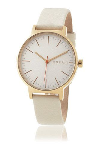 Esprit Leather Krem Ring Gold nelly gold and by esprit what