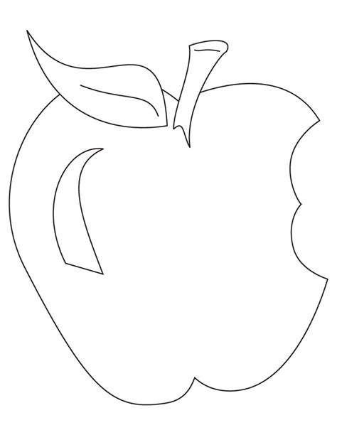 apple clipart coloring page 85 eaten apple coloring page apple coloring pages