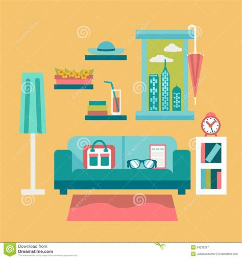 flat design vector illustration of modern home office