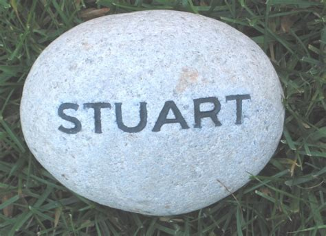 Personalized Engraved Garden Stone With Name By Custom Garden Rocks