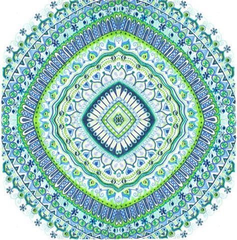 blue mandala pattern blue and green blue and green pinterest mandalas