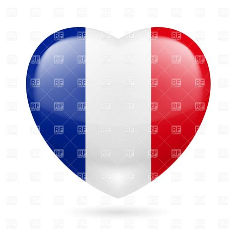 0008100594 when in french love heart with french flag colors i love france vector image