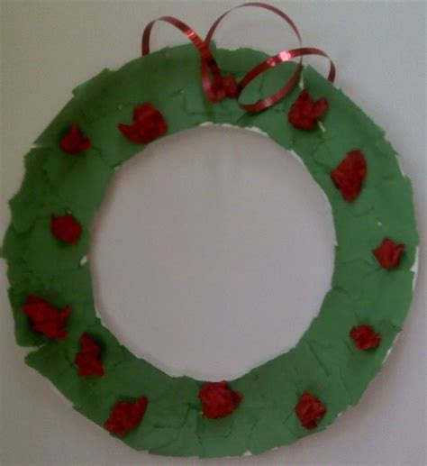paper plate wreath crafts paper plate wreath