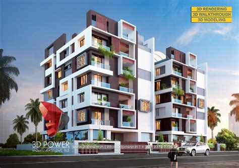 3d apartment township apartments design 3d rendering modern 3d
