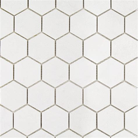 Shop For White Thassos Hexagon Marble Mosaics at TileBar.com
