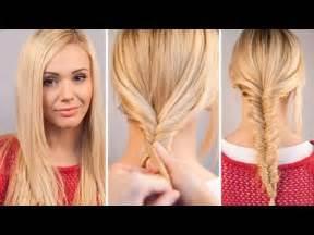 tutorial makeup natural ke kus easy fishtail braid tutorial youtube